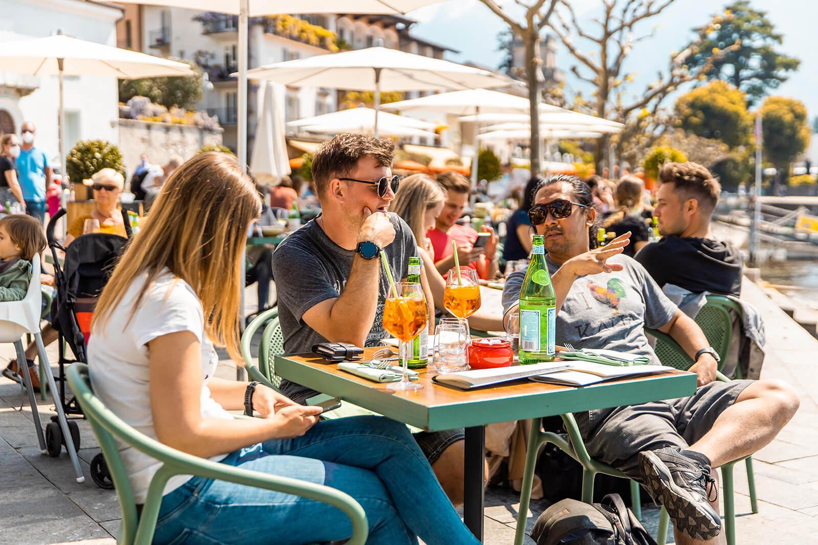 Ascona Outdoor Restaurant Seating in Ticino Switzerland