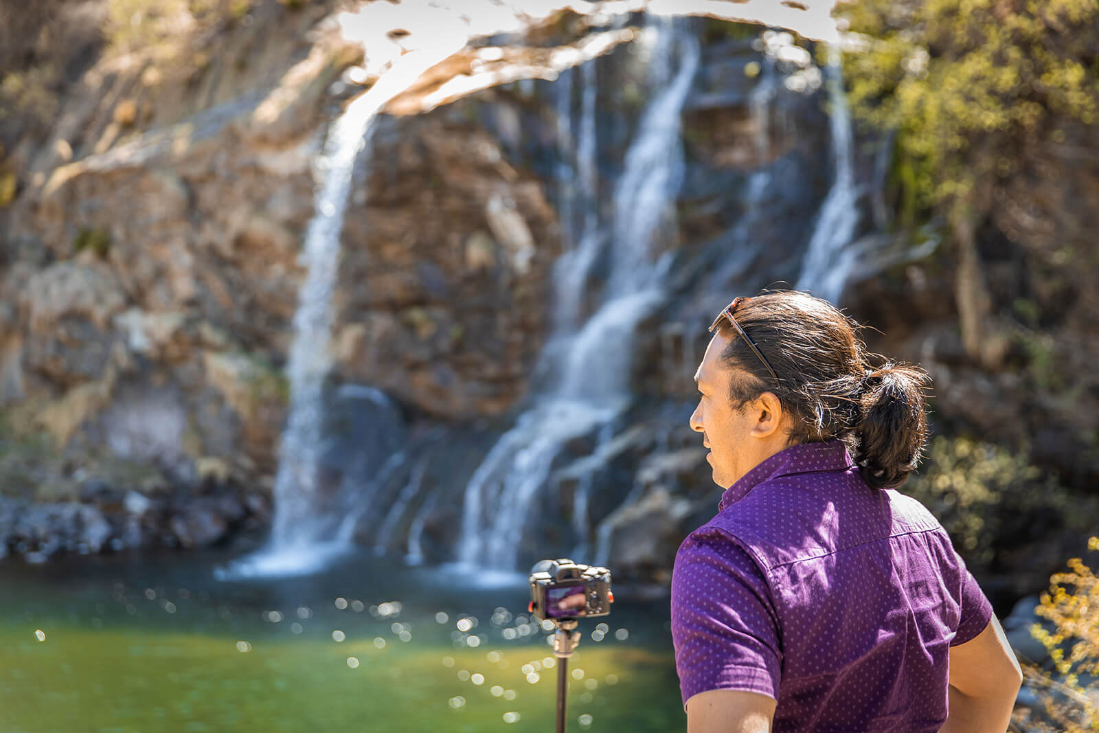 Faido Waterfalls in Ticino, Switzerland