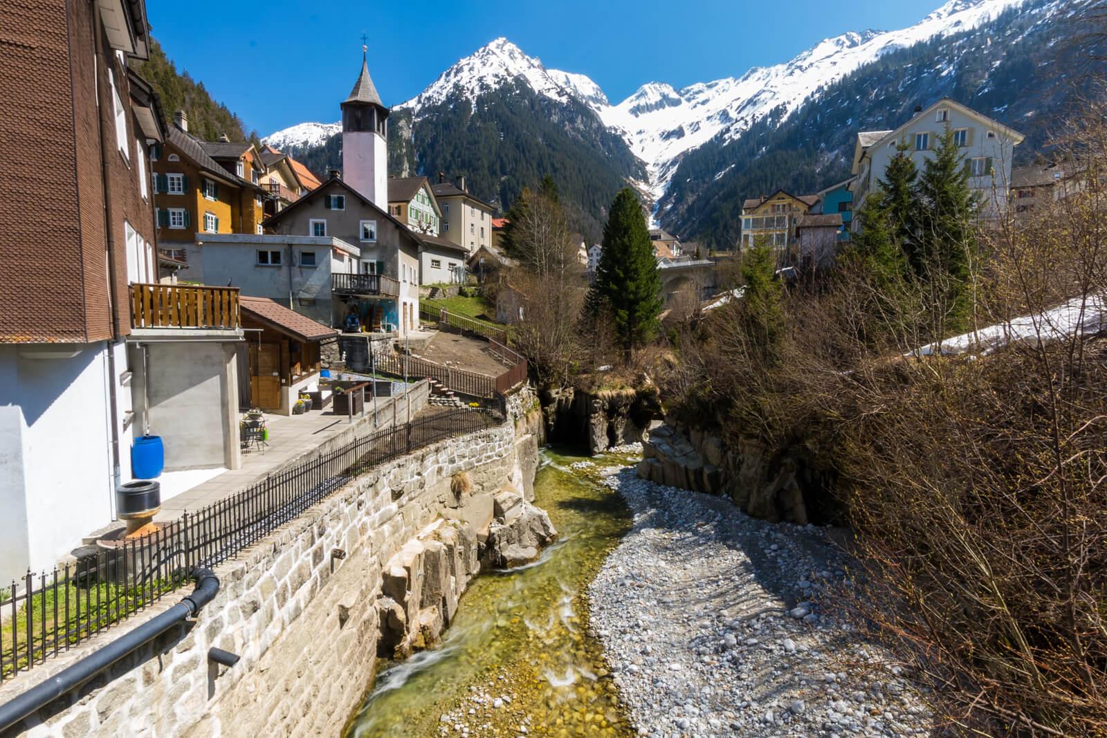 Göschenen Village in Switzerland