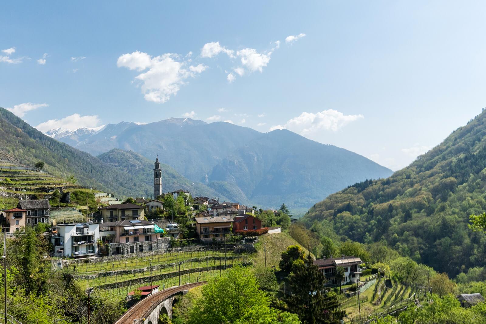 Intragna Village in Ticino, Switzerland