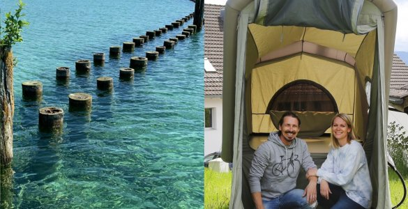 Himmelszelt Bicycle Tent for Rent in Switzerland