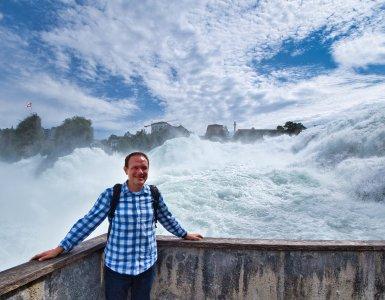 Rhine Falls in Neuhausen, Switzerland