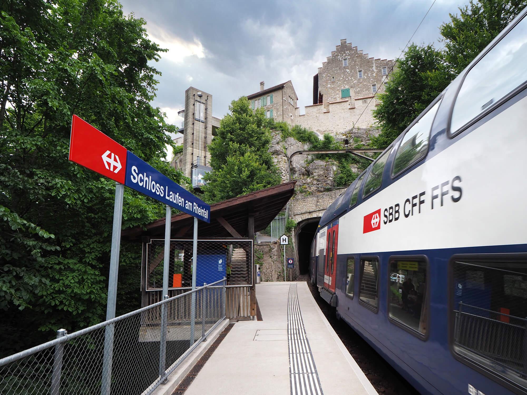 Train Station at Rhine Falls in Neuhausen