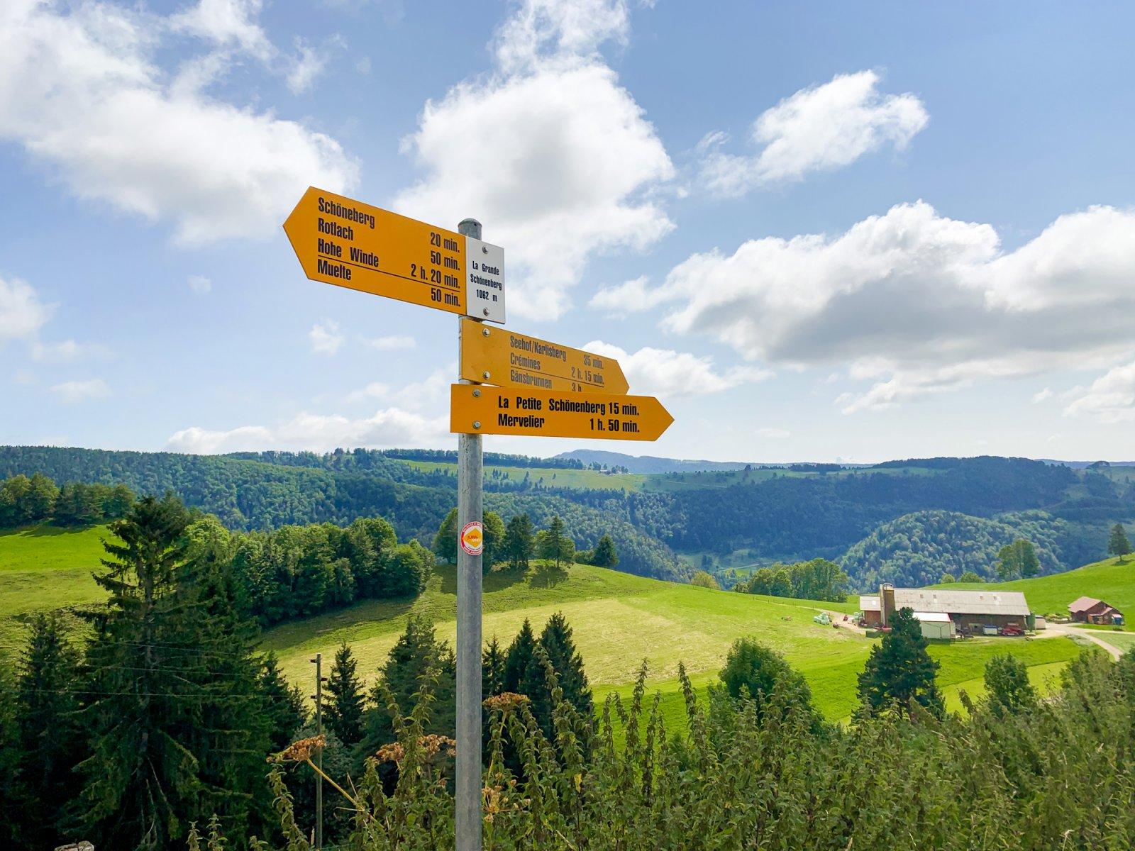 Hiking in the Jura Countryside, Jura Switzerland