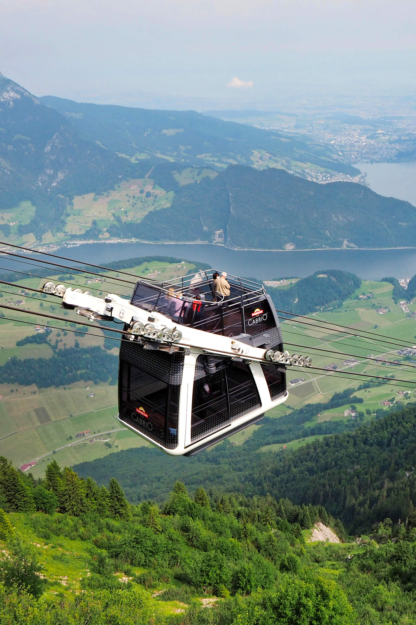 Stanserhorn CabriO cable car with open rooftop