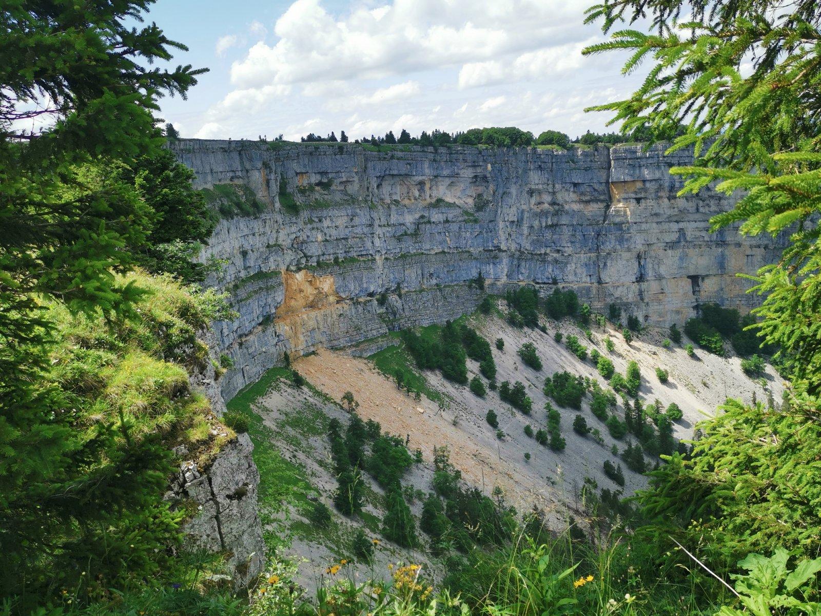 Hiking the Creux du Van Rock Arena in Switzerland